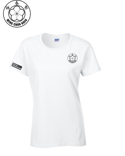 WCKUK Womens White Cotton T-Shirt